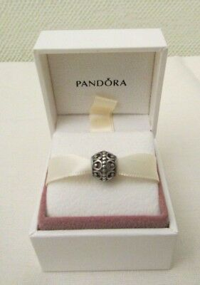 Pandora Abstract Openwork Sterling Silver 925 Charm - 790458 - Retired Plus Box