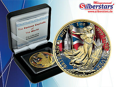 1 OZ Silber Britannia 2017 color The Famous Capitals of the World Series