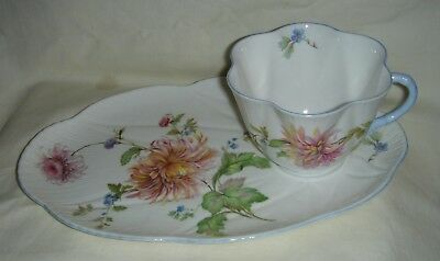 Vintage Shelley Dainty Shaped Cup & Saucer (Tv Set) Cornflower Blue #2377