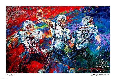 "Tom Brady - ""The Release"" by Jace McTier - Artist Signed Ltd Ed of 100"