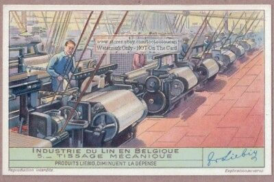 Mechanical Weaving Machine Linen Plant  Sewing Material 75+ Y/O Trade Ad Card