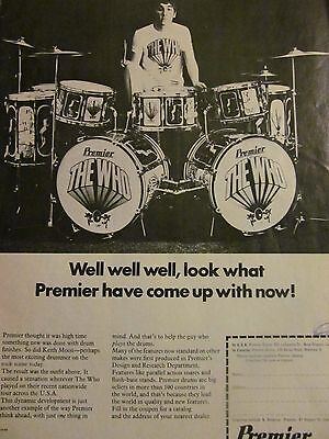 The Who, Keith Moon, Premier Drums, Full Page Vintage Promotional Print Ad
