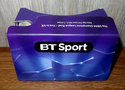 BT Sport Virtual Reality Google Cardboard VR headset BT Sports Champions League