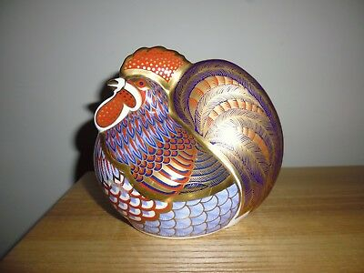 "Royal Crown Derby ""Cockerel"" paperweight. Gold stopper, boxed. Now retired."