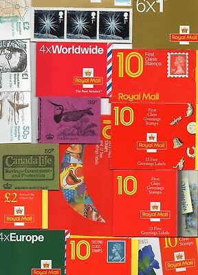 GB £500 Decimal Folded & Self-Adhesive Booklets Under Face Value Unmounted Mint