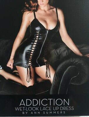 Ann Summers Addiction Dress Size Small In Black