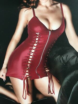 Ann Summers Addiction Dress Size Small In Red
