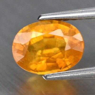 1.15ct 6.8x5mm Oval Natural Yellow Sapphire, Thailand