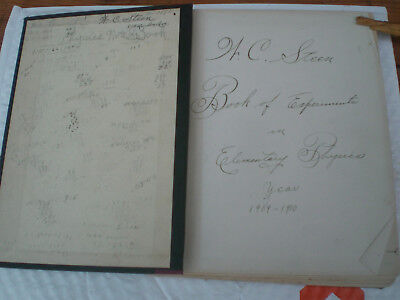 Antique 1910 Journal Science W C Steen Book Log Experiments Elementary Physics