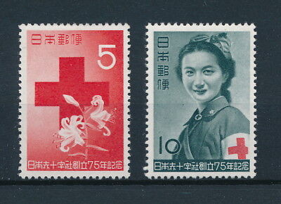 [96603] Japan 1952 Red Cross good set Very Fine MH stamps