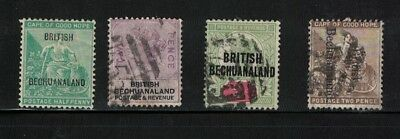 Bechuanaland stamps - victoria era 1880s onwards useful lot - used / mint