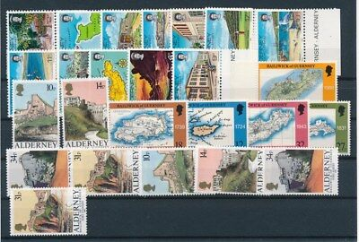 [G94826] Alderney good lot Very Fine MNH stamps