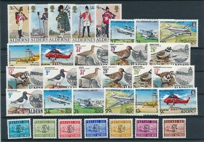 [G95026] Alderney & Guernsey good lot Very Fine MNH stamps