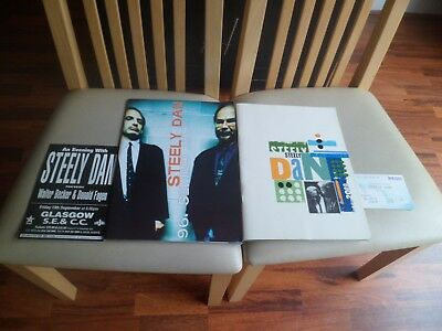 Steely Dan - 2 X Programme 1996 With Flyer & 2000 With Ticket - All Ex