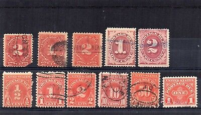 USA - used Postage Dues stamps x 11
