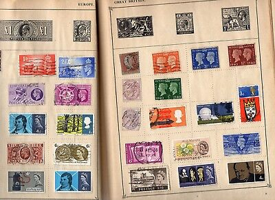 Strand World Stamp Album -  poor condition but over 1300 World stamps