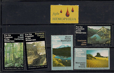 US Poster Stamp Collection Hemophilia Freedom Wilderness Nature Environment