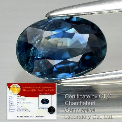 0.95ct 7x4.7mm Oval Natural Unheated Green Blue Sapphire, Thailand *Certified