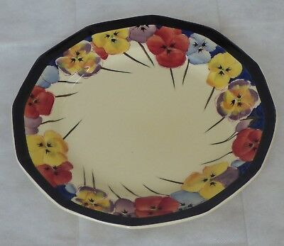 """Royal Doulton Pansy D4049 Large 10"""" Dinner Plate"""