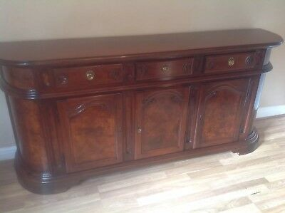 Antique Italian Mondital Burr Walnut Credenza Sideboard