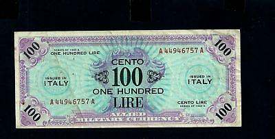 Banknote Italy- Allied Military Vurrence- -Serie 1943A- 100 Lire //619