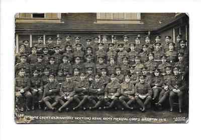 Real Photo Postcard WW1 1st Home Counties Royal Army Medical Corps Brighton