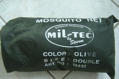 Brand New Mil-Tec Mosquito Net In Bag Size Double