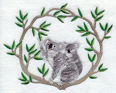 Embroidered Short-Sleeved T-Shirt - Koala and Baby M1937  Sizes S - XXL