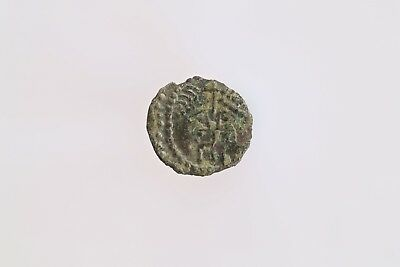 Anglo Saxon Silver Sceat Type 37, Two Diademed Heads Facing, S802A