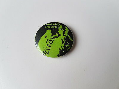 Adam And The Ants Vintage Button Badge Zerox Punk Rock Goth Adam Ant