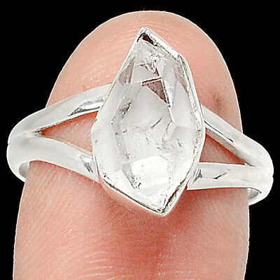 Herkimer Diamond 925 Sterling Silver Ring Jewelry s.8 RR79901