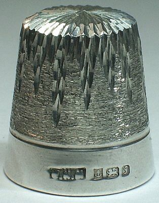 William H. Manton Sterling Silver Thimble, Icicles, Birmingham 1983