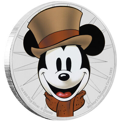 Niue Islands 2 Dollar Disney: Mickey - Christmas Carol, 1 Unze Silber , 1 oz, 20