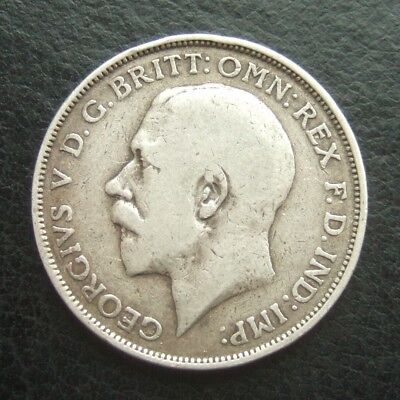 1918 Florin : 2 Shillings : King George V Sterling Silver Coin