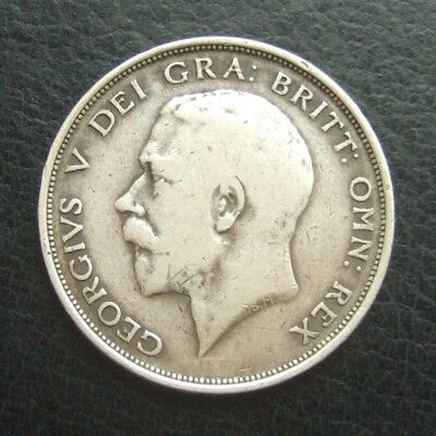 1912 Halfcrown : King George V Sterling Silver Coin