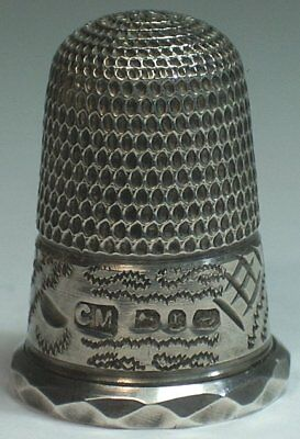 Charles May Sterling Silver Thimble, Birmingham 1891