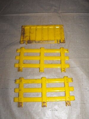 Vintage Double Play Value Pressed Steel Stake Truck Rails Ramp Farm