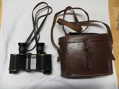 WW1 1918 Dated Binoculars (Field Glasses) by Kershaw-Graticules-WD Issue