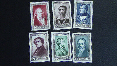 France Lot 6 Timbres 1951 N° 891 à 896 Neuf** Personnages