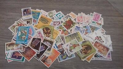 100 Stamps From Nicaragua All Different