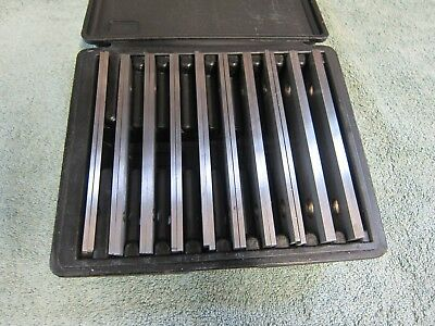 Fowler hardened steel Parallel Sets, 10 Pairs with Case