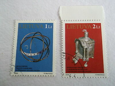 2000 Lithuania Exhibits in Klaipeda Clock Museum used Sc729/30