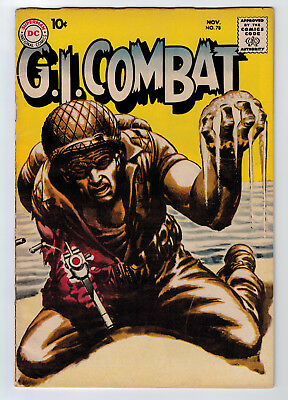 Gi Combat #78 3.5 Grey Tone/wash Cover 1959 Off-White Pages