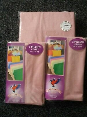 Double Fitted Sheet And 4 Pillow Cases