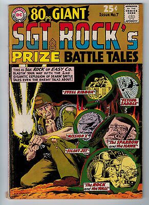80 Page Giant #7 4.0 Sgt. Rock Kubert Cover And Art 1965 Cream/ow Pages