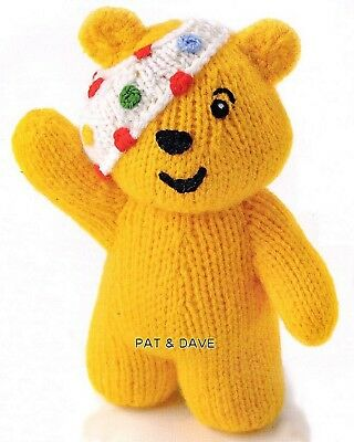 Knitting Pattern Alan Dart Children In Need Mascot Pudsey Bear Teddy Toy Doll