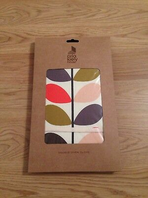 BN Genuine ORLA KIELY Multi Stem Double Oven Glove
