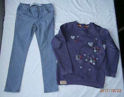 m&s & denim & co girls outfit age 6-7 years