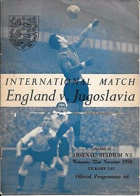 England v Yugoslavia at Arsenal 1950