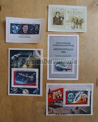 pc3) East German & others aviation space age collection of postage stamps blocks